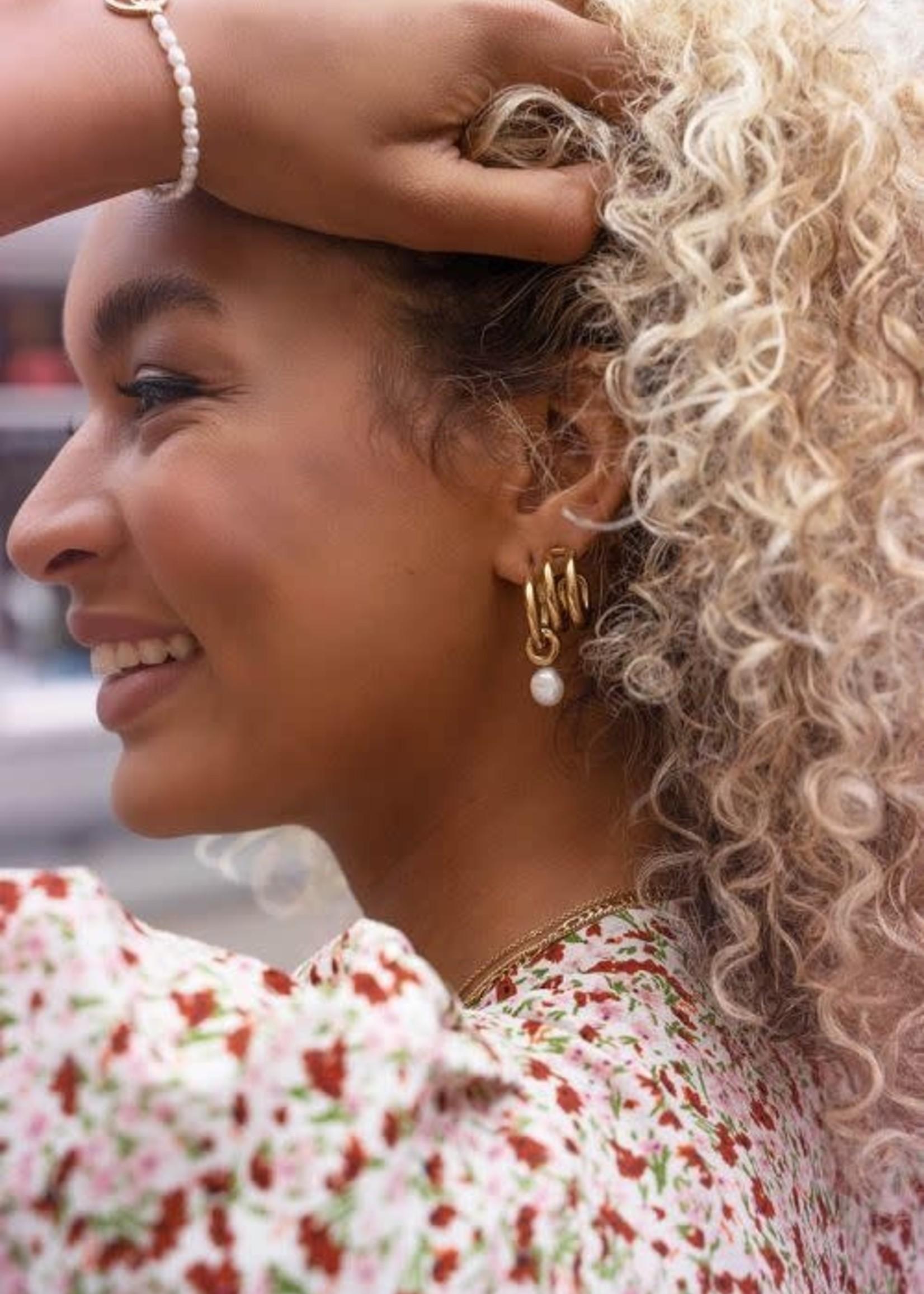 My Jewellery My Jewellery oorringen met parel