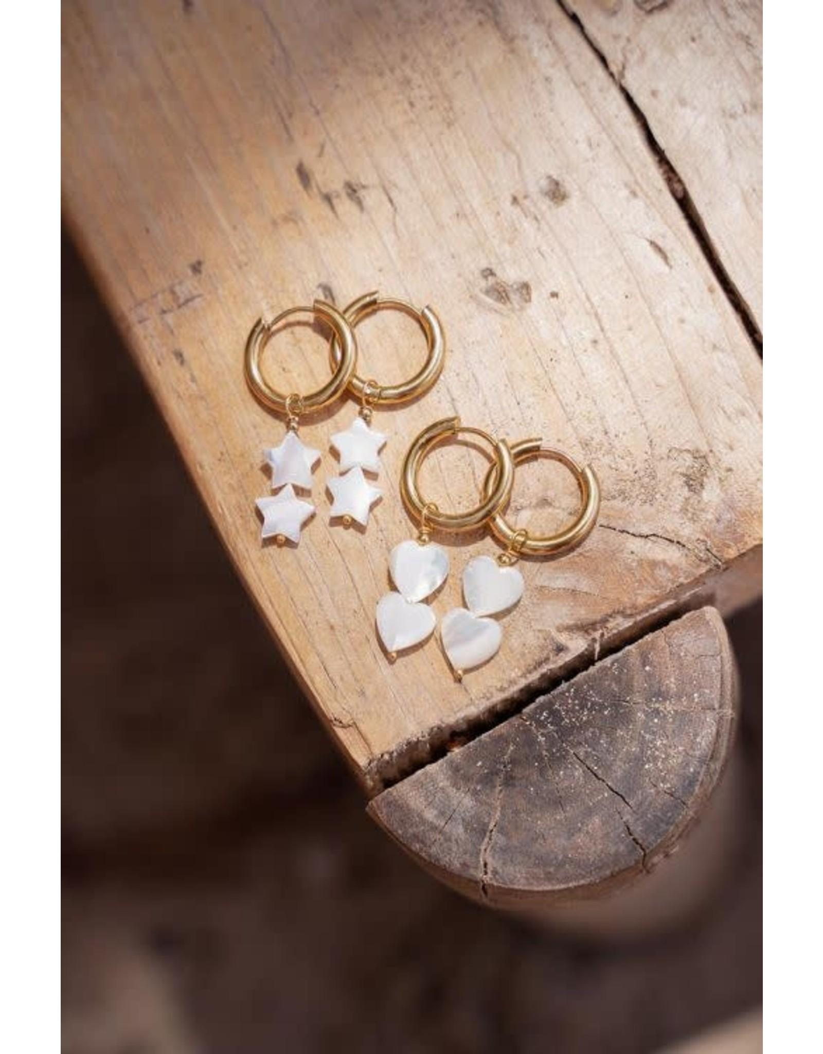 My Jewellery My Jewellery oorringen sterrtjes parels