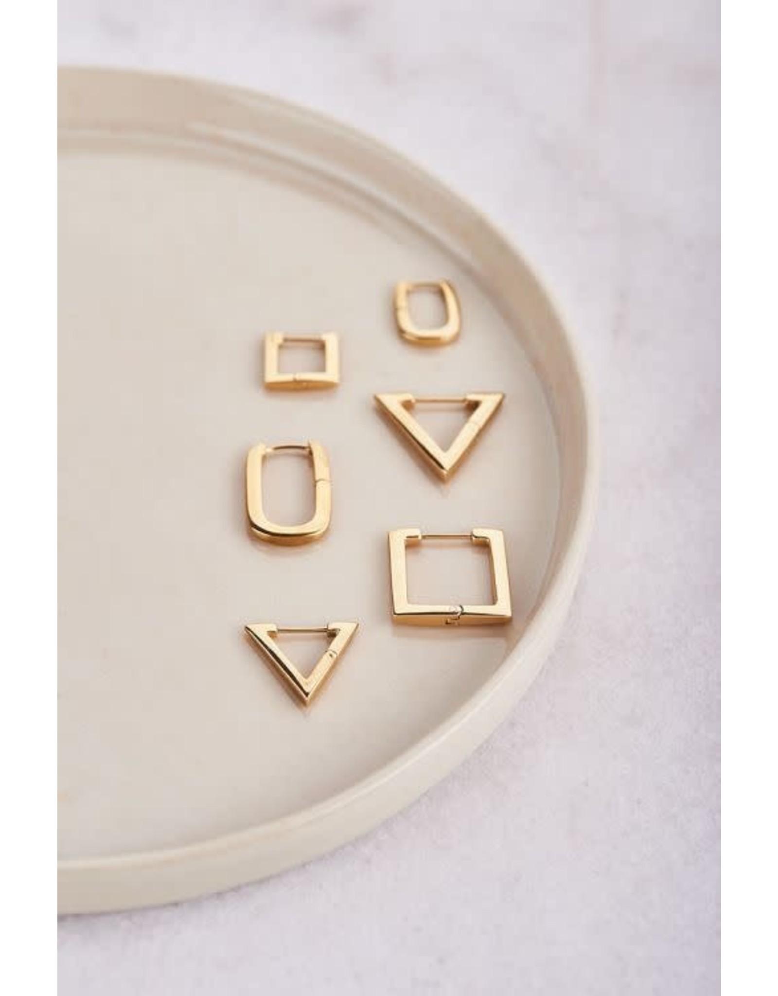 My Jewellery My Jewellery oorbellen driehoek klein