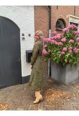 Maxi dress cheeta - groen
