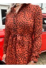 Maxi dress cheeta - Vintage rood