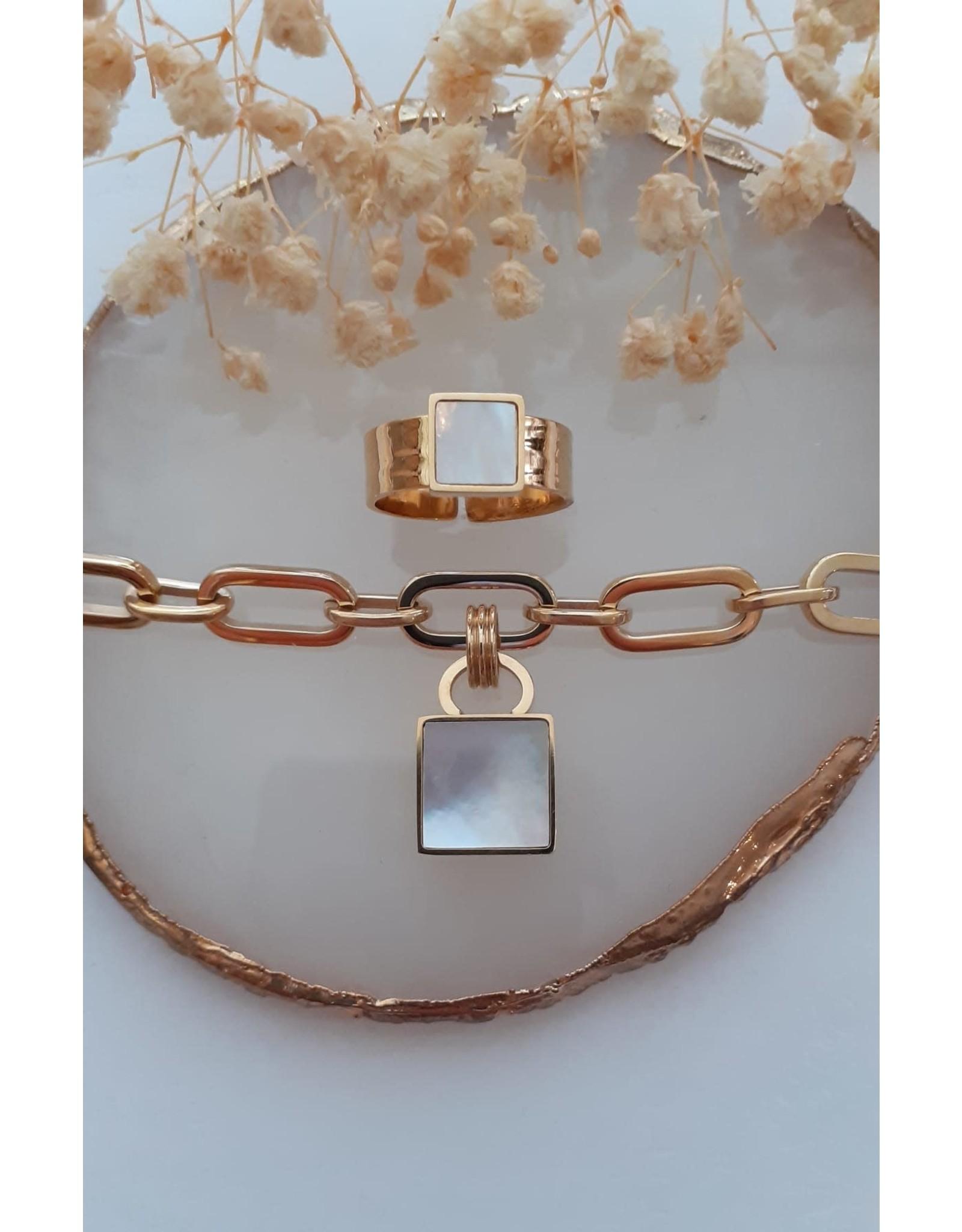 Zag Bijoux ZAG ring Gold Shell