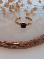 Zag Bijoux ZAG ring Onyx Noir schakel