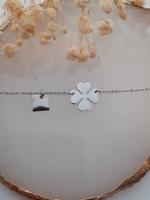 Zag Bijoux ZAG armband klaver zilver
