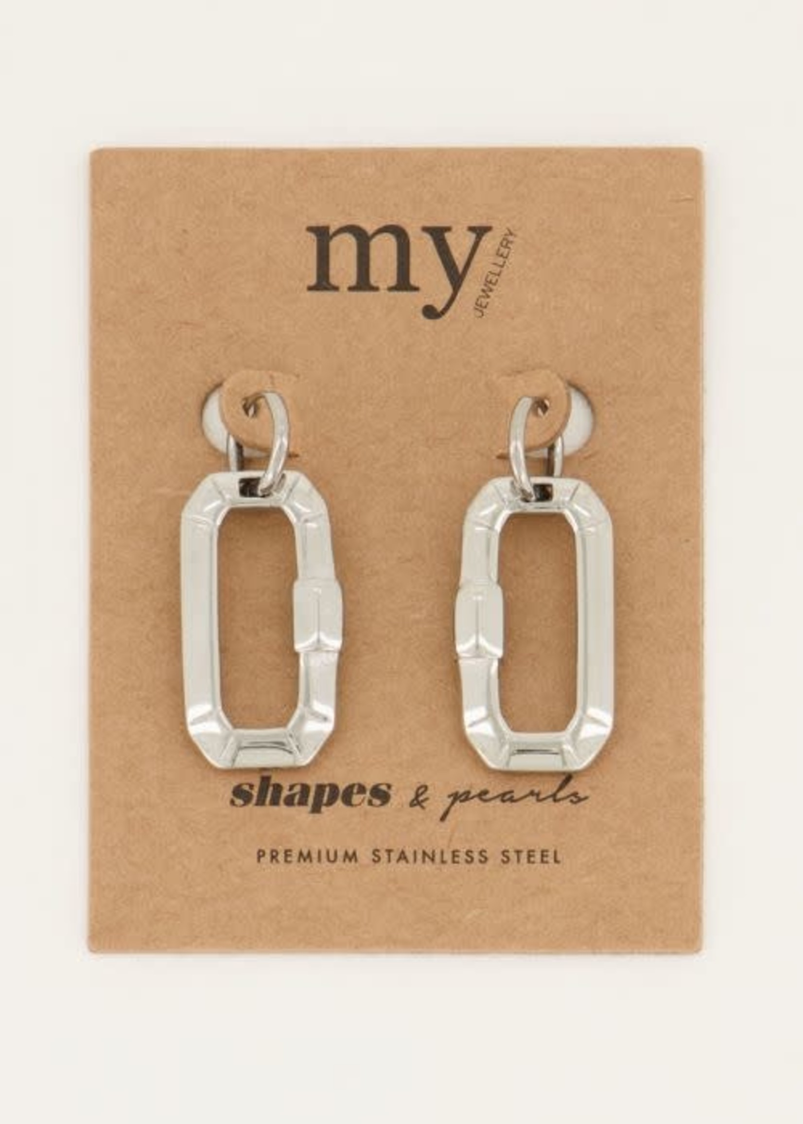 My Jewellery My Jewellery Shapes oorringen rechthoek groot