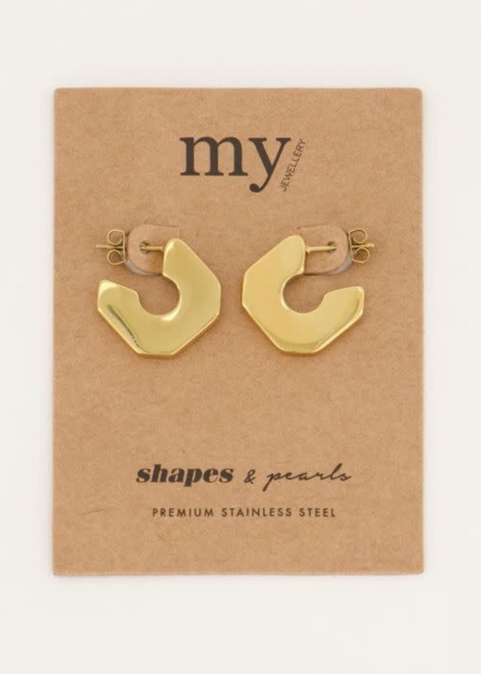 My Jewellery My Jewellery Shapes oorhangers plat vierkant