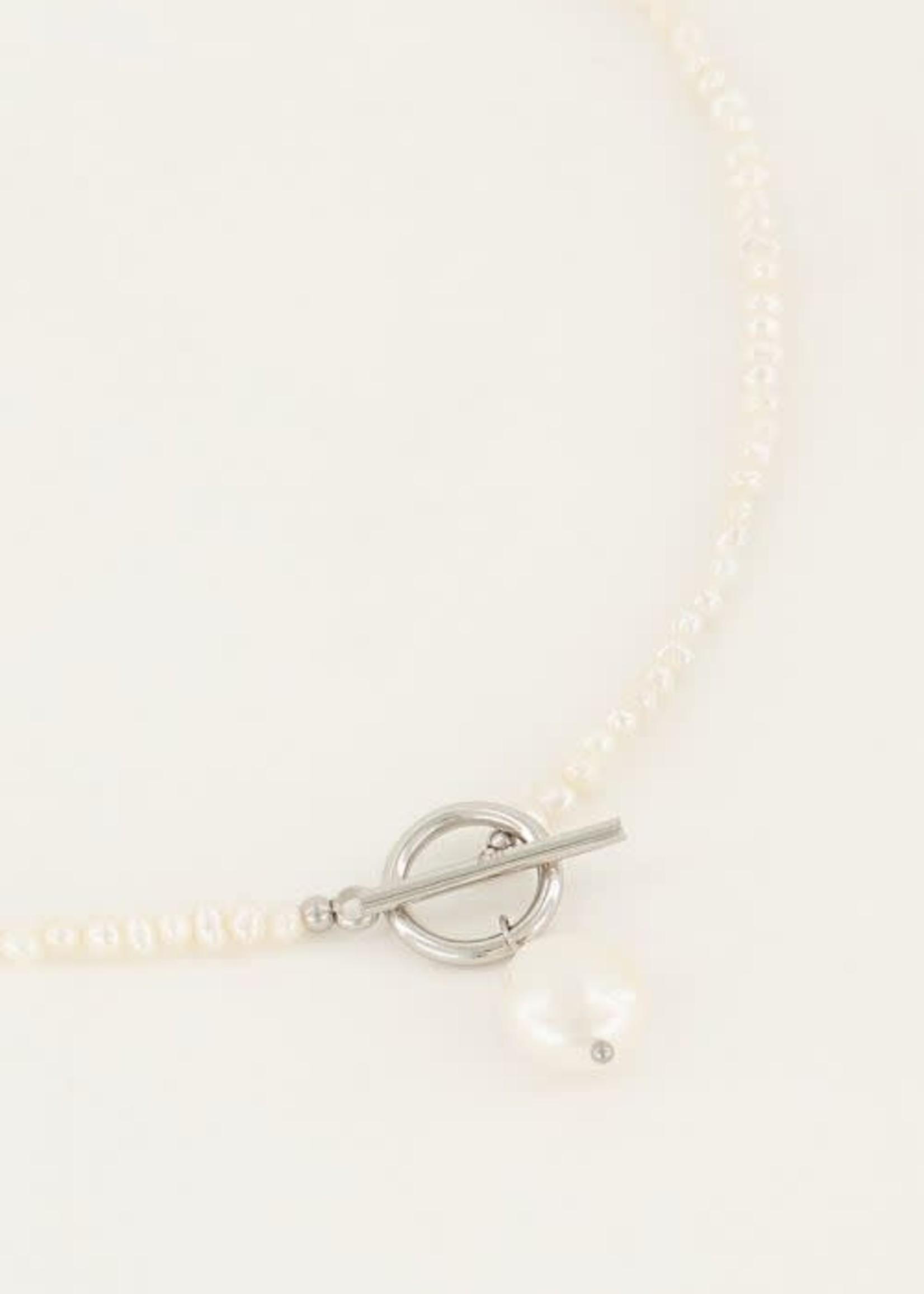 My Jewellery My Jewellery Shapes parelketting met slotje