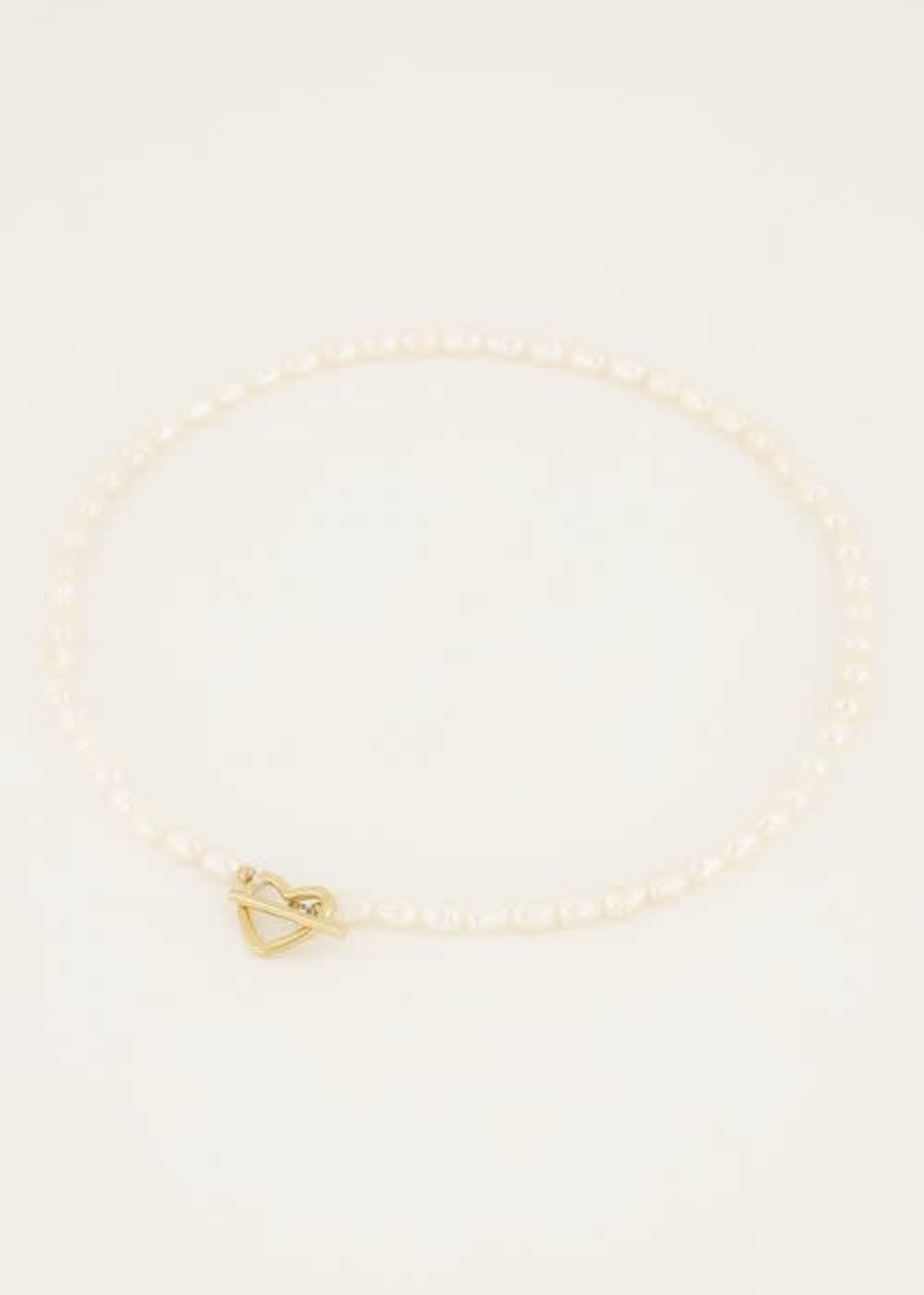 My Jewellery My Jewellery Shapes parelketting met hartje