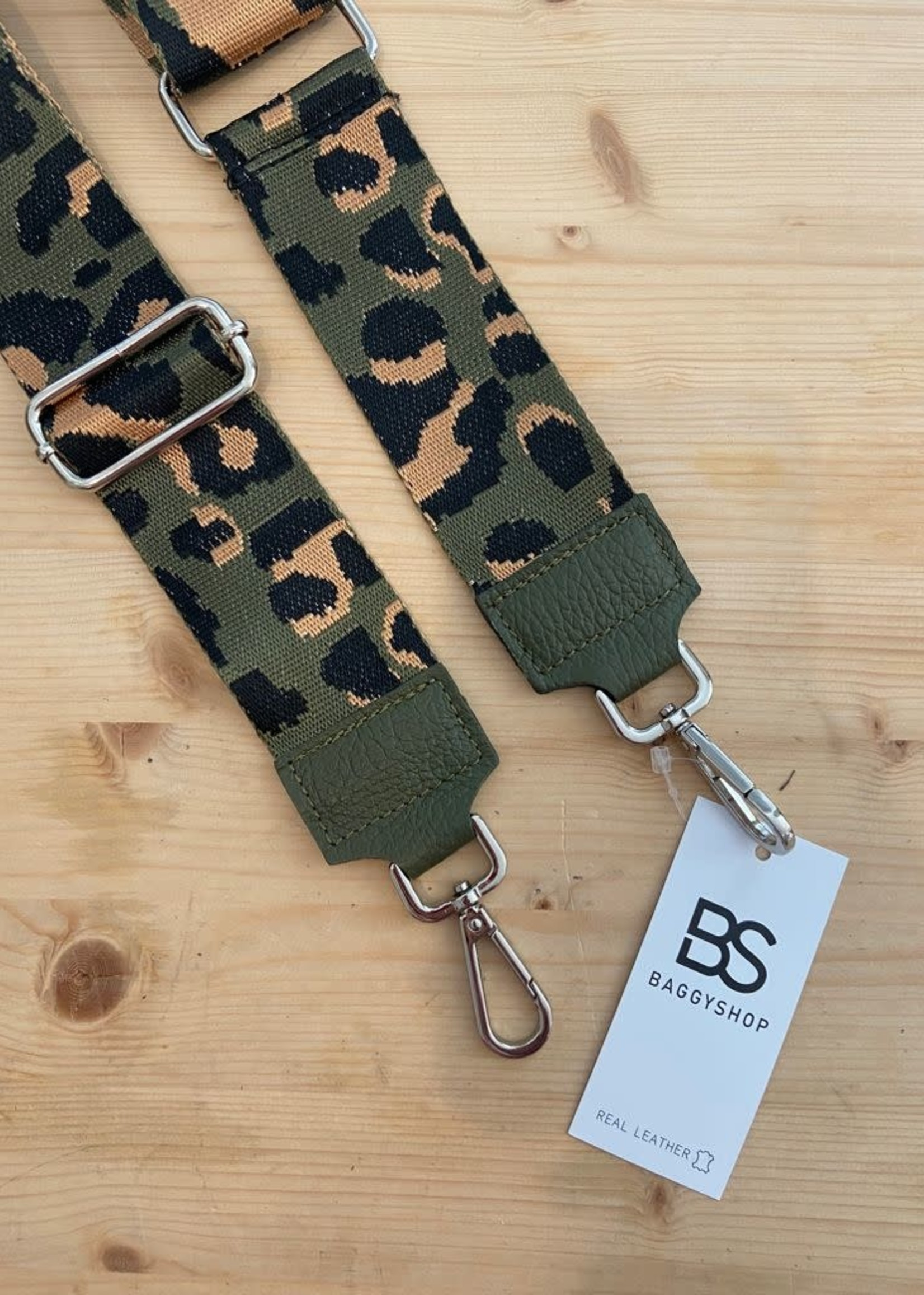 Baggy Shop Baggyshop handle me - leopard groen