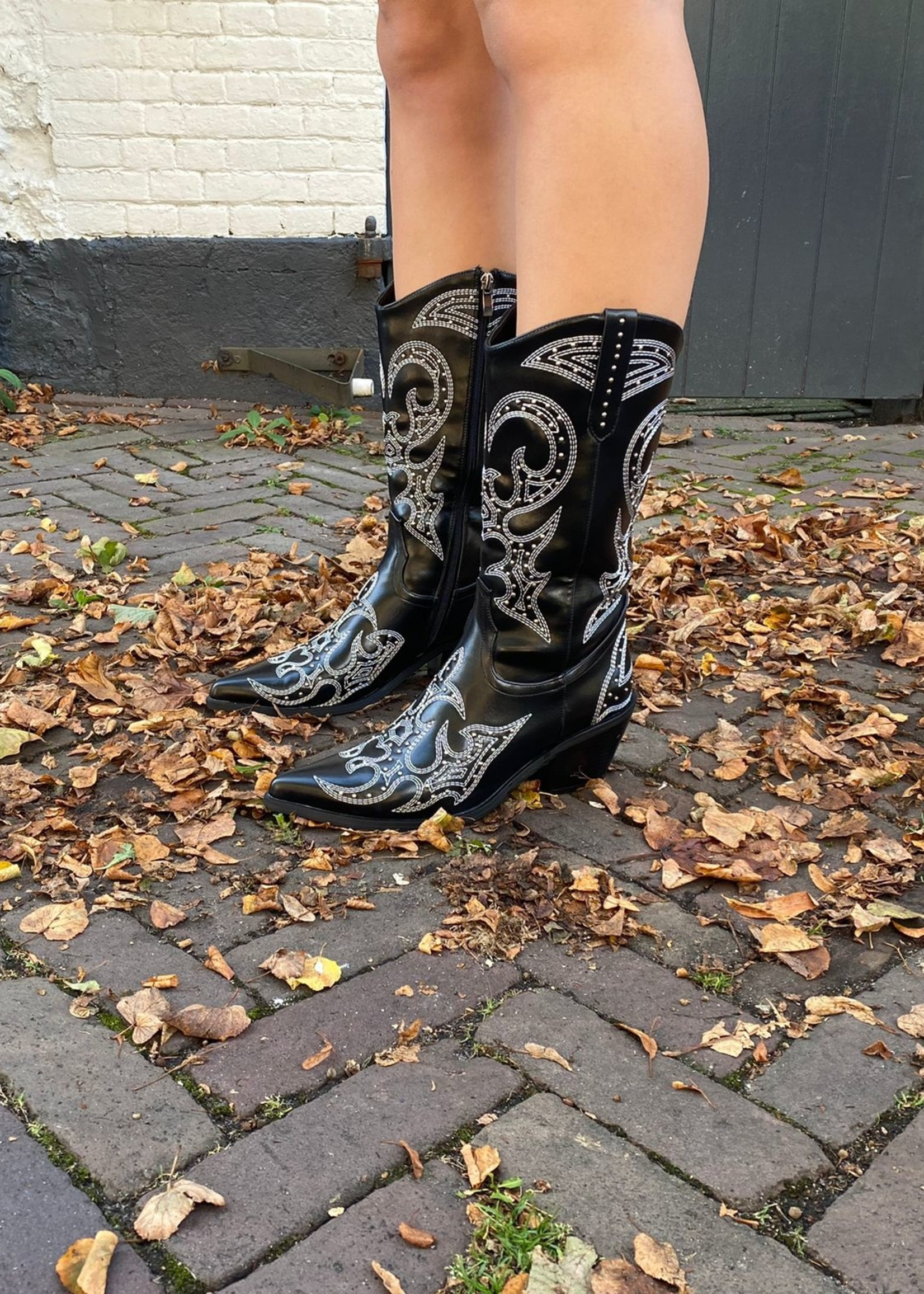 Western Boots - Black & White