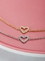 My Jewellery My Jewellery armband open hart steentjes