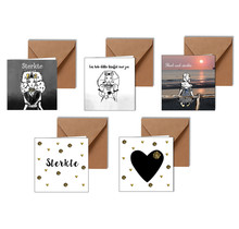 Pakket van 5 condoleance kaarten met een Zeeuws tintje