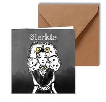 Condoleancekaart Zwart wit goud