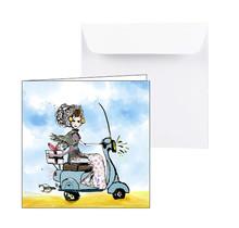 Zeeuwse kaart, Zeeuws meisje op scooter