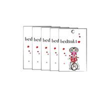Set van 5 cadeaukaartjes Bedankt  met een Zeeuws meisje op de fiets