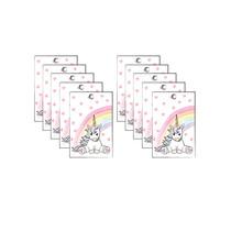 Verjaardagslabels Eenhoorn set van 10 kaartjes