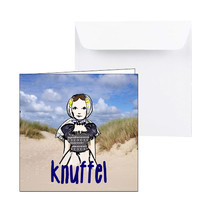 Zeeuwse kaart knuffel met Zeeuws meisje uit Domburg