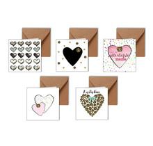 Set van 5 Zeeuwse hartjes kaarten