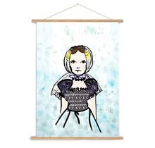 A3 poster Zeeuws meisje uit Domburg