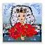 Zeeuwse Ansichtkaart Zeeuws meisje met tulpen