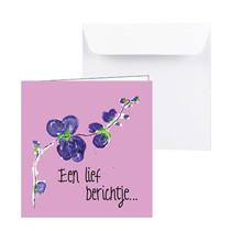 Roze Sterktekaart Een lief berichtje...