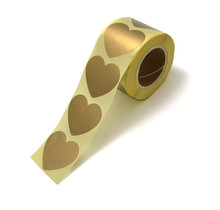 10 mooie gouden hartjes stickers om je cadeau te versieren