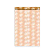 Set 10 Cadeauzakje 17×25cm wit met roze met stippen