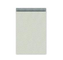 Set 10 Cadeauzakje 17×25cm wit met groene met stippen