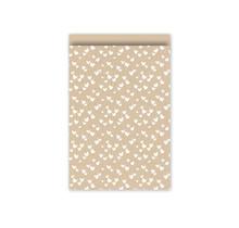 Set 10 Cadeauzakje 17×25cm van kraftpapier met witte hartjes