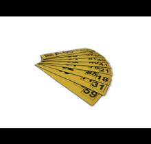 Magneetlabel enkelvoudig 125x35 mm