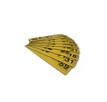 Magnetisch label 125x35 mm