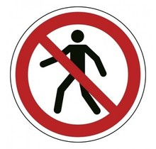 P004 Verboden voor voetgangers