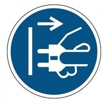 M006 Voor openen stekker uit stopcontact trekken