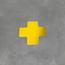 Uni-Floor Vloerlabel kruisstuk