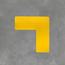 Uni-Floor Vloermarkering hoekstuk (10 stuks)