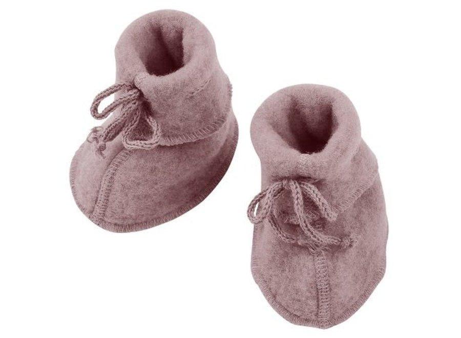 Engel Natur Baby Booties Rosewood
