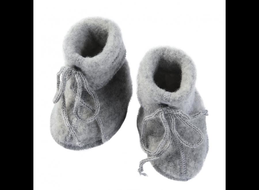 Engel Natur Baby Booties Grey
