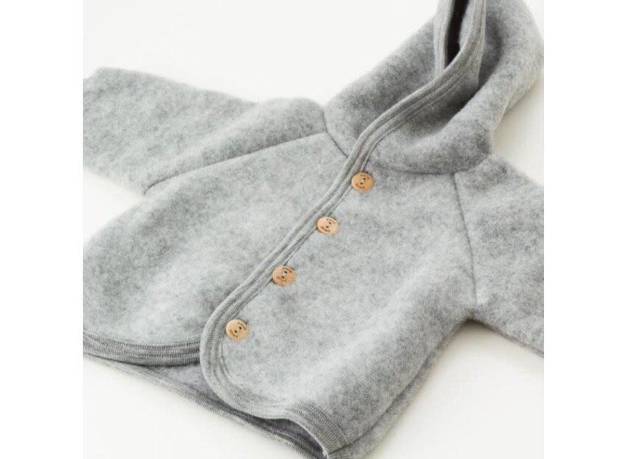 Engel Natur Hooded Jacket Grey