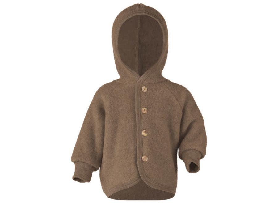 Engel Natur Hooded Jacket Walnuss
