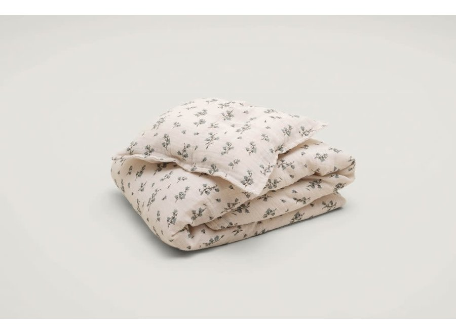 Bed Set Muslin Bluebell Junior