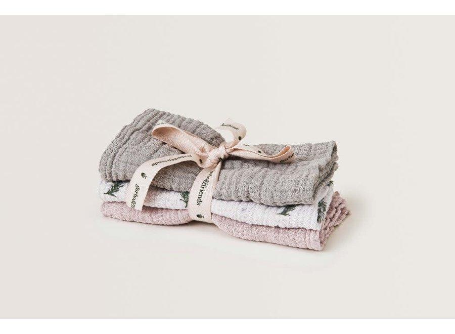 Burp Cloths Muslin Rosemary 3 Pcs