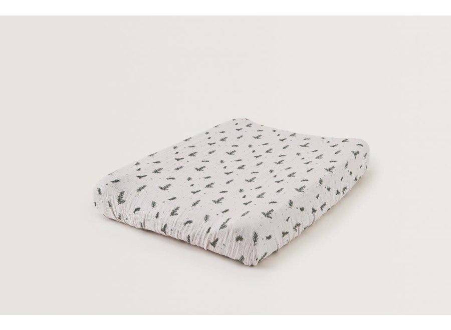 Changing Mat Cover Muslin Rosemary