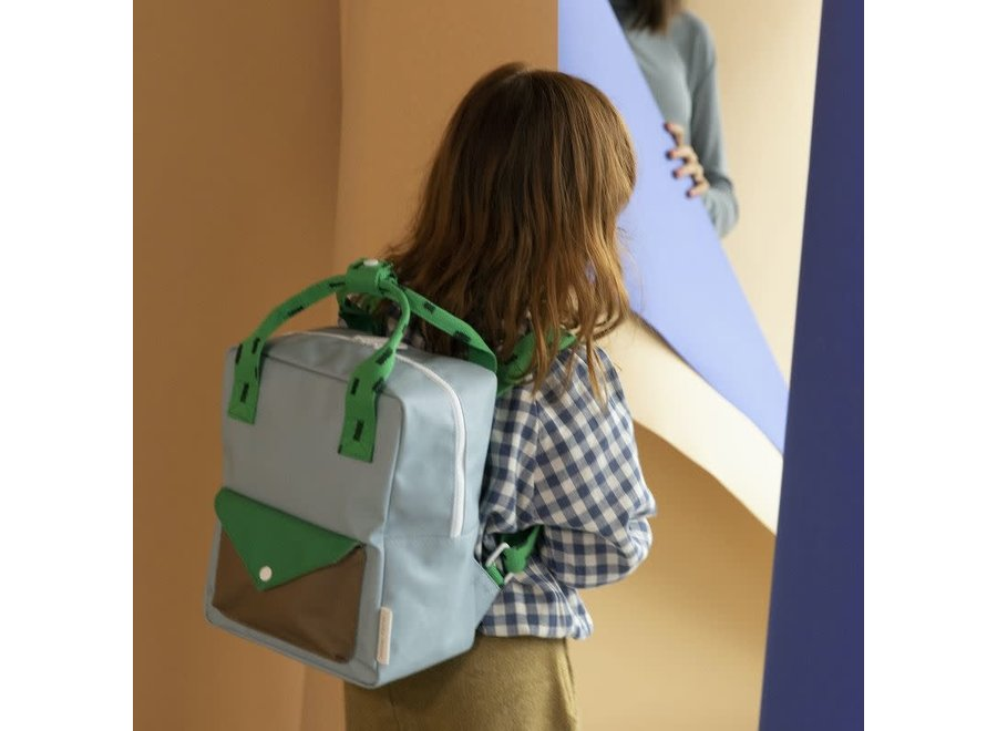 Small Backpack Sprinkles | Envelope | Steel Blue + Apple Green + Brassy Green