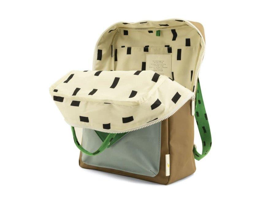 Large backpack Sprinkles Envelope - Brassy Green & Apple