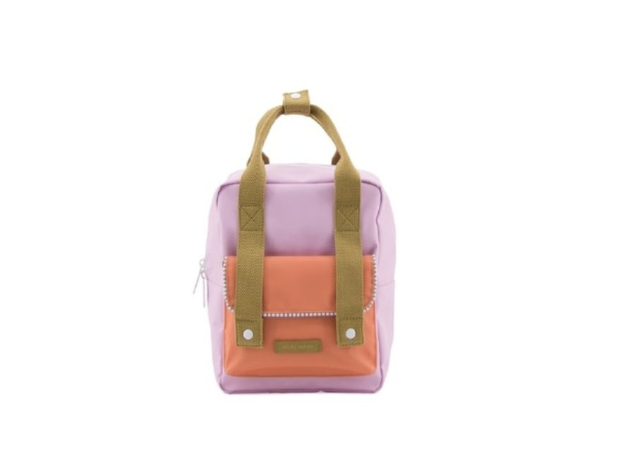 Small Backpack Lilac | Orange Enveloppe De Luxe