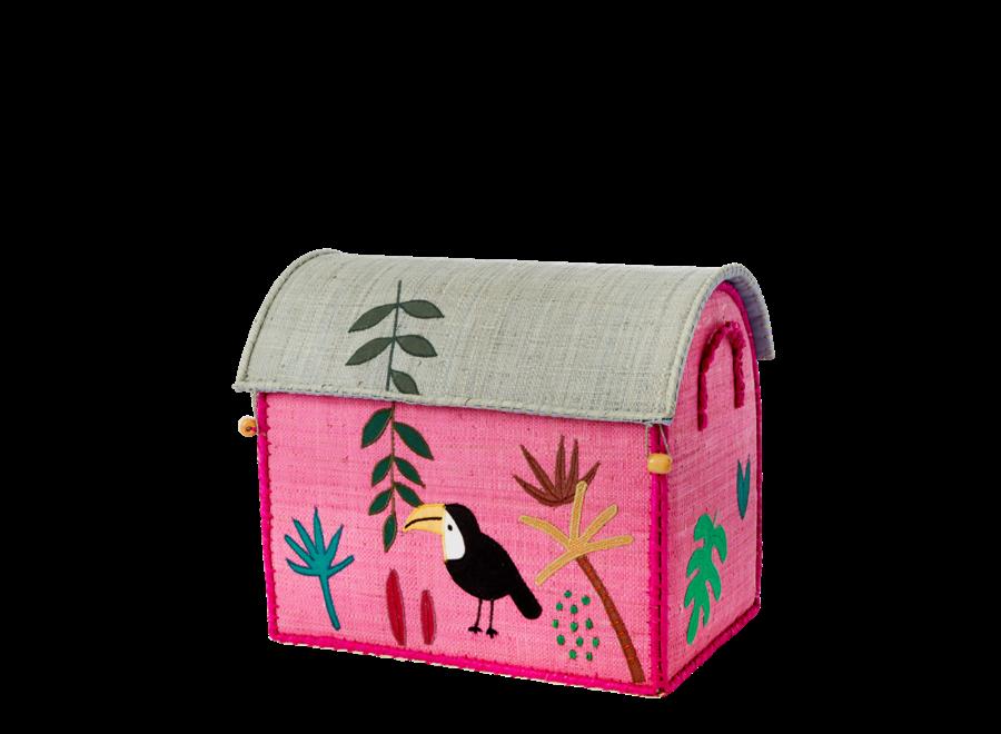 Raffia Basket Jungle Toekan Small