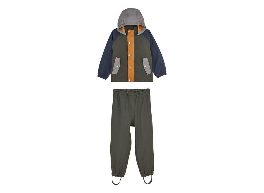 Parker Rainwear Green Multimix