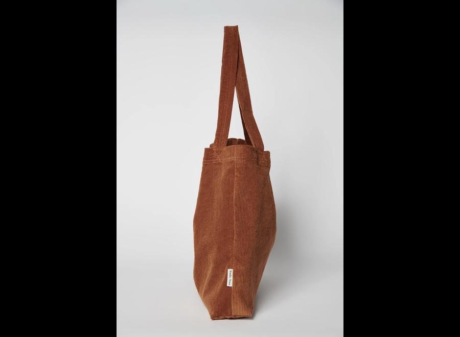 Brown Rib Mom-bag