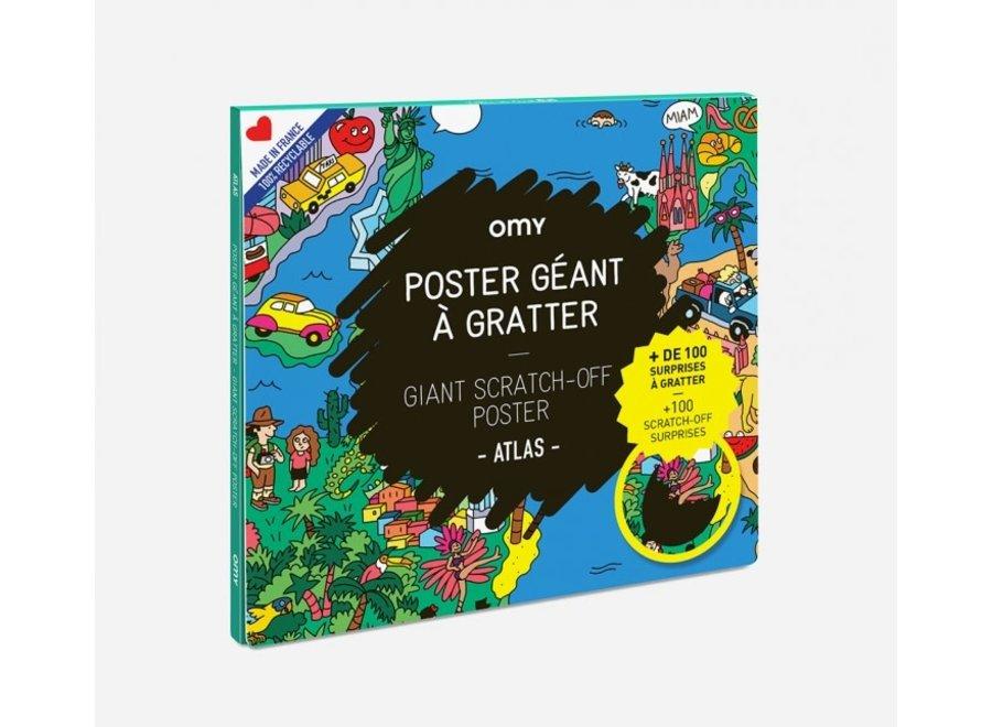 Scratch Off Poster Atlas