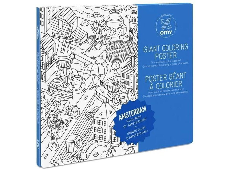Coloring Poster Amsterdam